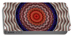 Portable Battery Charger featuring the digital art Mandala 10 by Terry Reynoldson