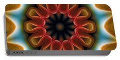 Portable Battery Charger featuring the digital art Mandala 100 by Terry Reynoldson