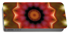 Portable Battery Charger featuring the digital art Mandala 103 by Terry Reynoldson