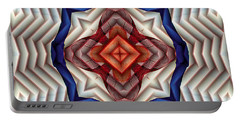 Portable Battery Charger featuring the digital art Mandala 11 by Terry Reynoldson