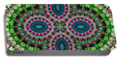 Mandala 111 Portable Battery Charger by Terry Reynoldson