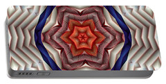 Portable Battery Charger featuring the digital art Mandala 12 by Terry Reynoldson