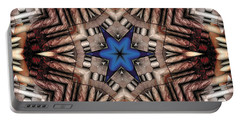 Portable Battery Charger featuring the digital art Mandala 13 by Terry Reynoldson