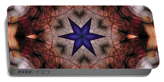 Portable Battery Charger featuring the digital art Mandala 14 by Terry Reynoldson