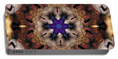 Portable Battery Charger featuring the digital art Mandala 16 by Terry Reynoldson