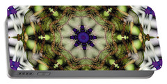 Portable Battery Charger featuring the digital art Mandala 21 by Terry Reynoldson