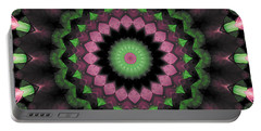 Portable Battery Charger featuring the digital art Mandala 34 by Terry Reynoldson