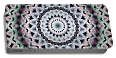 Portable Battery Charger featuring the digital art Mandala 40 by Terry Reynoldson