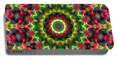Portable Battery Charger featuring the digital art Mandala 70 by Terry Reynoldson