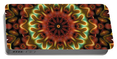Portable Battery Charger featuring the digital art Mandala 71 by Terry Reynoldson