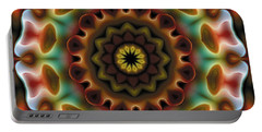 Portable Battery Charger featuring the digital art Mandala 74 by Terry Reynoldson