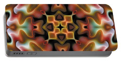 Portable Battery Charger featuring the digital art Mandala 76 by Terry Reynoldson