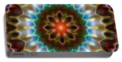 Portable Battery Charger featuring the digital art Mandala 79 by Terry Reynoldson