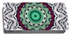 Portable Battery Charger featuring the digital art Mandala 8 by Terry Reynoldson