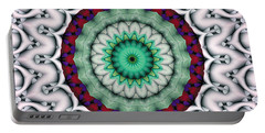 Portable Battery Charger featuring the digital art Mandala 9 by Terry Reynoldson