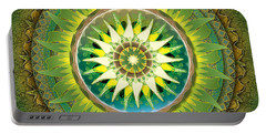 Mandala Green Portable Battery Charger