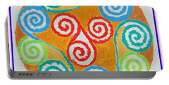 Portable Battery Charger featuring the painting Mandala by Sonali Gangane
