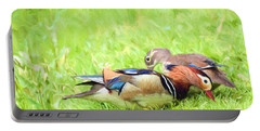 Mandarin Duck Couple Portable Battery Charger