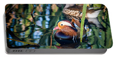 Mandarin Duck Reflections Portable Battery Charger
