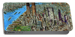 New York Downtown Manhattan 1972 Portable Battery Charger