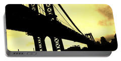 Manhattan Bridge Portable Battery Charger by Paulo Guimaraes