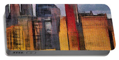 Beautiful City Manhattan Digital Painting Portable Battery Charger by Georgi Dimitrov