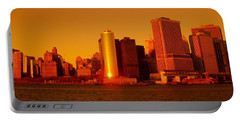 Manhattan Skyline At Sunset Portable Battery Charger