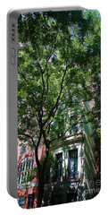 Portable Battery Charger featuring the photograph Manhattan Upper East Side Late Summer by Andy Prendy