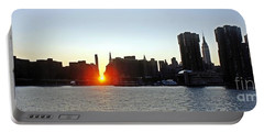 Portable Battery Charger featuring the photograph Manhattanhenge 2011 by Lilliana Mendez
