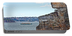 Portable Battery Charger featuring the photograph Manly Ferry Passing By  by Miroslava Jurcik