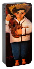 Portable Battery Charger featuring the painting Manolito El Cuatrista 1942 by Oscar Ortiz