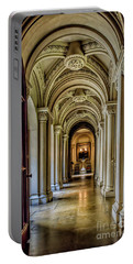 Portable Battery Charger featuring the photograph Mansion Hallway by Adrian Evans