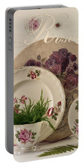 Portable Battery Charger featuring the photograph Many Rose Designs Still Life  by Sandra Foster