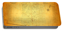 Map Of Detroit Michigan C 1835 Portable Battery Charger