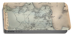 Map Of East Hampton 1873 Portable Battery Charger