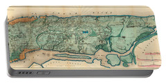 Map Of Manhattan Portable Battery Charger