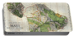 Map Of Maui 1885 Portable Battery Charger
