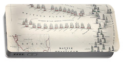 Map Of The Battle Of Trafalgar Portable Battery Charger