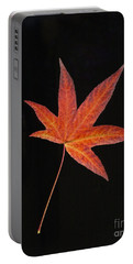 Maple Leaf On Black 2 Portable Battery Charger