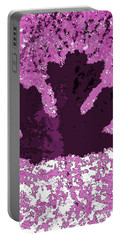 Maple Leaf Purple Pop Poster Hues  Portable Battery Charger