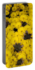 Maple Leaves On Chrysanthemum Portable Battery Charger