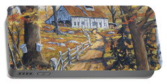 Maple Sugar Bush  Road By Prankearts Portable Battery Charger