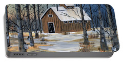 Maple Syrup Shack Portable Battery Charger by Brenda Brown