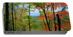 Portable Battery Charger featuring the photograph Maples Against Lake Superior - Tettegouche State Park by Cascade Colors