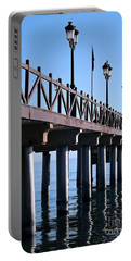 Portable Battery Charger featuring the photograph Marbella Pier Spain by Clare Bevan