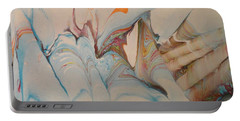 Portable Battery Charger featuring the painting Marble 24 by Mike Breau