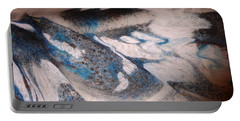 Portable Battery Charger featuring the painting Marble 7 by Mike Breau