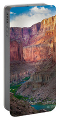 Marble Cliffs Portable Battery Charger by Inge Johnsson