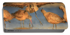 Portable Battery Charger featuring the photograph Marbled Godwit  by John F Tsumas