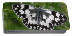 Marbled White Portable Battery Charger